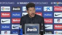 """Simeone: """"Nuestro deseo es llegar con opciones a últimos cinco partidos"""""""