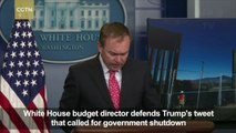 White House budget chief defends Trump's call for government shutdown