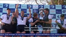 Cambridge, Oxford university rowers race through London