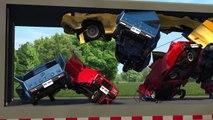 Scrap Car Crusher - Death Machines BeamNg drive (Destroying Cars)