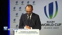 Lapsus et fou rire d'Edouard Philippe devant le gratin du rugby français