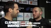 Provence Rugby / Albi : La réaction de Clément Querru