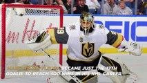 Fleury notches milestone as Golden Knights stun Flyers 3-2