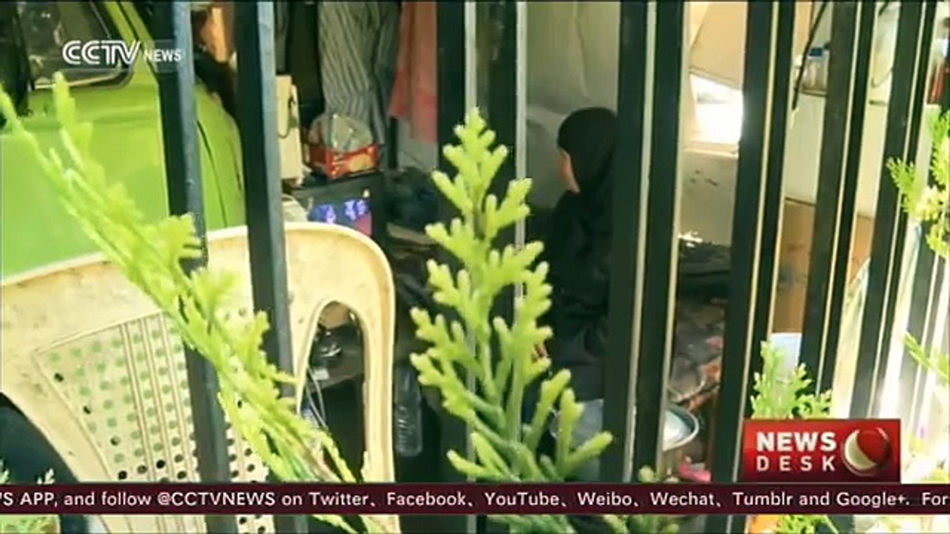 Life in a van: One Syrian family's life in Damascus
