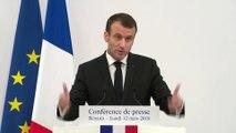 Conférence de Presse du Président de la République, Emmanuel Macron, à Bénarès, Inde