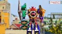 All DX Gattai Ninpuu Sentai Hurricanger 2002! 忍風戦隊ハリケンジャー! Power Rangers Ninja Storm Megazord!