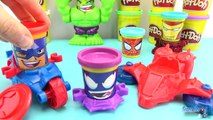Pate à modeler Play Doh Marvel Super Heros Captain America Spiderman Venom Jouet Toy Review
