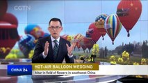 Wedding in the sky: Couples tie knot in hot air balloons over SW China