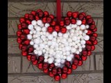 DIY Ornament Wreath Heart Wreath for Valentines Day Decoration