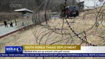 Barbed wire rings Lotte golf course as anti-THAAD rallies continue