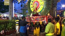 Hindus celebrate Thaipusam Festival at Malaysia temple