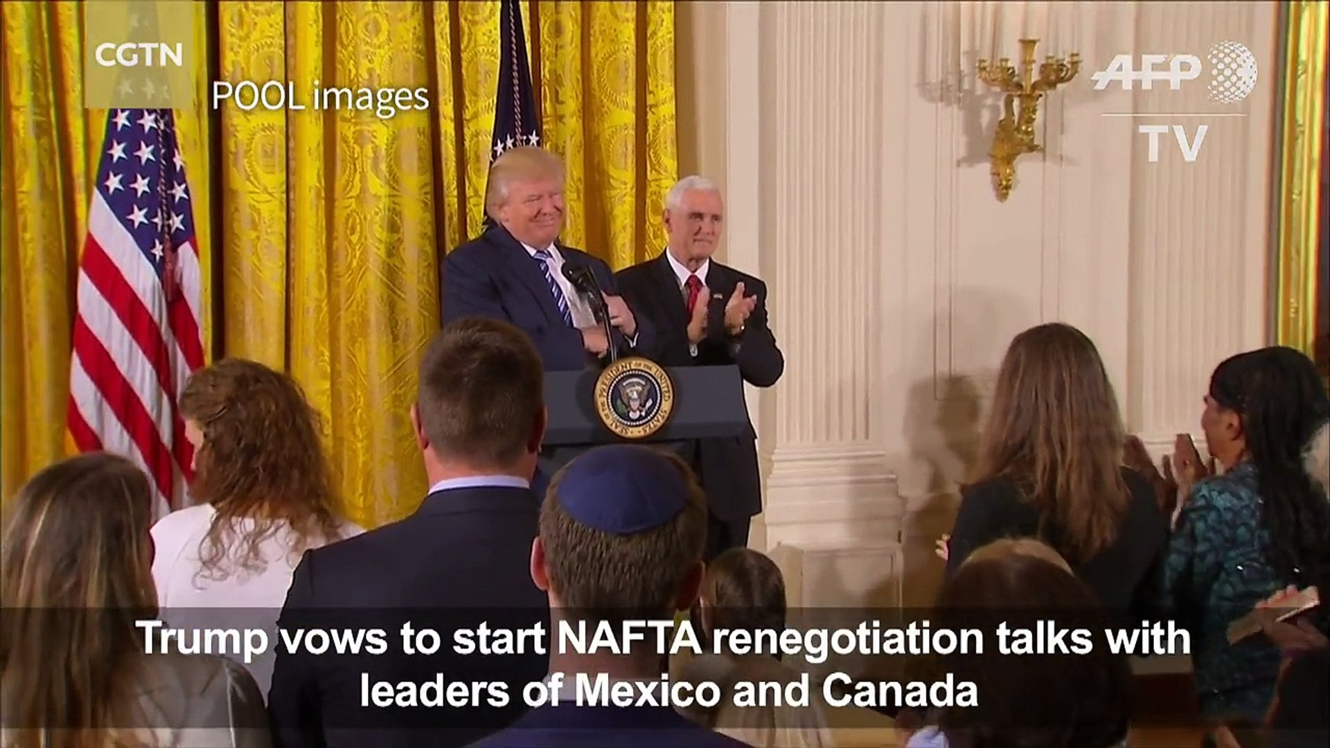Trump vows to 'start renegotiating' free trade agreement with Mexico, Canada