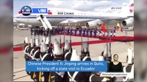 Chinese President Xi Jinping arrives in Quito, kicking off a state visit to Ecuador