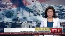 Syria's army makes gains in western Aleppo