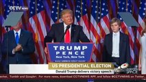 Donald Trump elected as 45th US president, and delivered his victory speech in NY