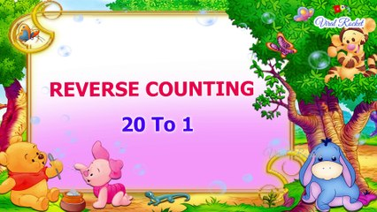 Reverse Counting for Kids 20-1 | Backward Counting 20-1 | Numbers for Children || VIRAL ROCKET