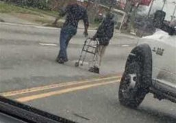 Man Gets Out of His Truck to Help an Elderly Man C