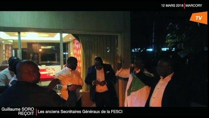 S.E.M Guillaume SORO a reçu en audience ce lundi plusieurs anciens SG et l'actuel SG du Mouvement estudiantin.