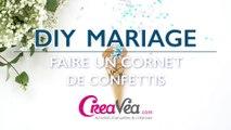 DIY mariage : faire un cornet de confettis facile et rapide