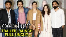 October Trailer Launch Event By Varun Dhawan, Banita Sandhu, Shoojit Sircar