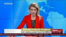 Knife-wielding assailant injures two officers in Brussels