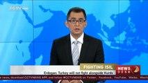 Erdogan: Turkey will not fight alongside Kurds