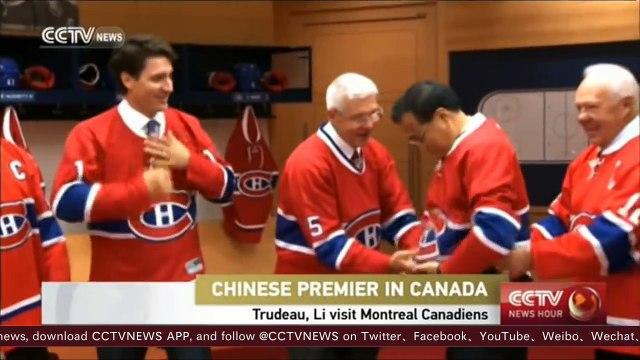 Chinese Premier Li visits Canadian hockey team Montreal Canadiens