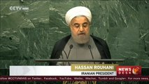 Iranian President Hassan Rouhani addresses UNGA