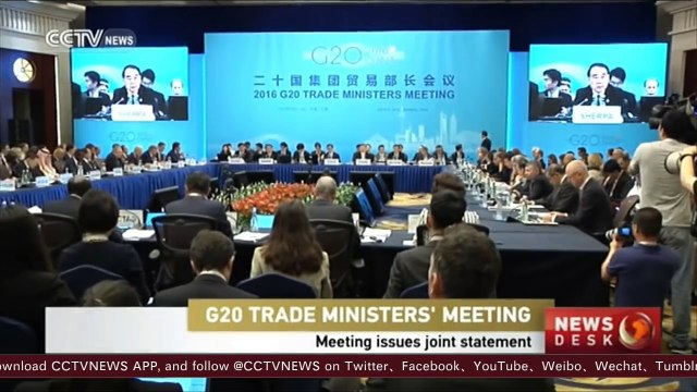 Participating countries at G20 issued the first trade ministers' joint statement