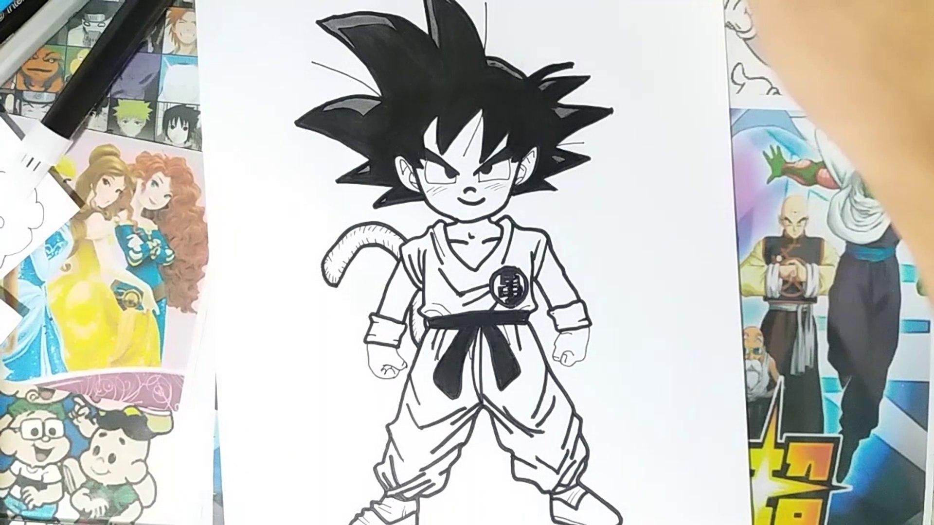 How To Draw Goku Dragon Ball Z Comment Dessiner Goku Dragon Ball