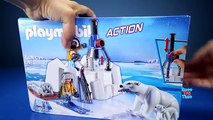 Playmobil Wild Animals Toy Polar Bears and Dogs Sled Building Toy Sets - Animal Toys For Kids