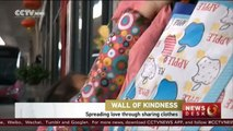 "Chinese city starts ""kindness walls"" initiative to donate clothes and help those in need"