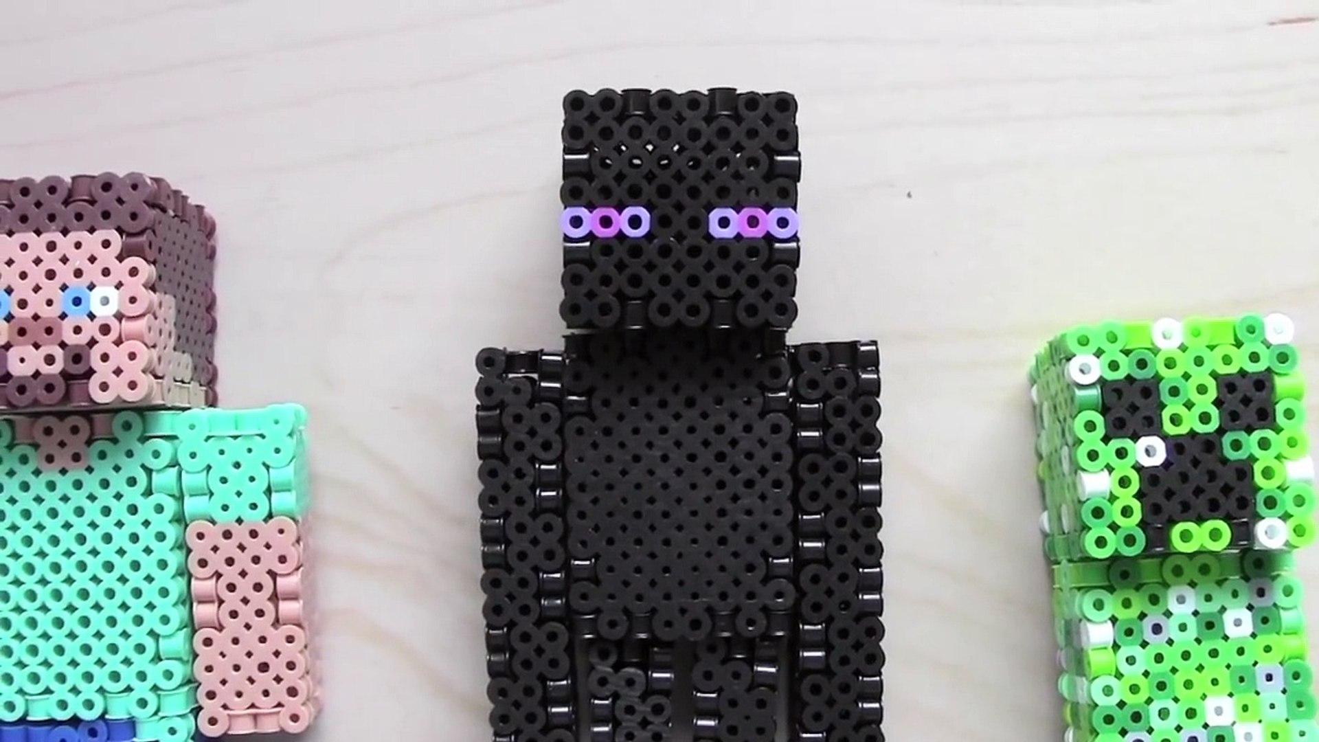 3d Perler Bead Minecraft Enderman Figure Full Tutorial