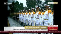 Iranian President Hassan Rouhani holds welcome ceremony for President XiJinping