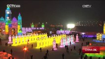 Frozen fantasy in Harbin attracts thousands of tourists