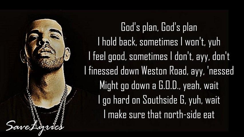 Drake - God's Plan (lyric video)