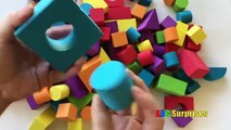 Learning for Toddlers and Children Learn SHAPES & COLORS with Baby Foam Blocks Castle ABC Surprises