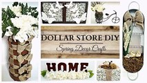 Dollar Store DIYS ~ EARTH TONE Spring Home Decor Crafts