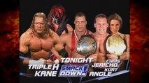 Kane & Triple H vs Kurt Angle & Chris Jericho w/ Stephanie McMahon 2/28/02 (1/2)