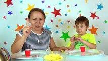 Challenge. Cu ce mănânc? Mancam cu paiul, furculita sau fara nimic. Bogdans`s Show Provocari nebune