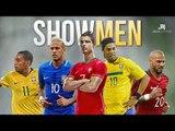 Top 5 skillful showmen's of football - Cristiano Ronaldo - Ronaldinho - Neymar Jr. - Pogba - Quaresma