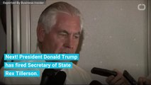 You're Fired! Trump Gives Secretary Of State Rex Tillerson The Boot