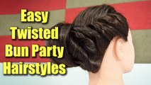 Hairstyle Tutorial: Easy twisted bun hairstyles for party | Boldsky