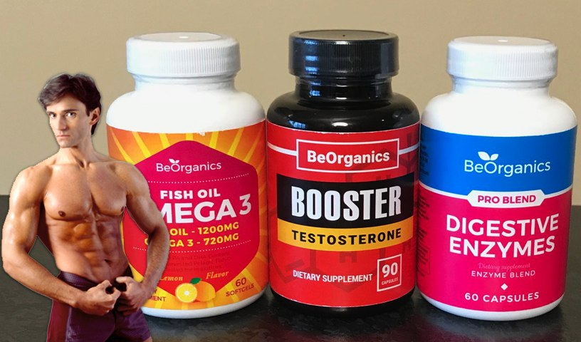 OMEGA 3 FISH OIL, TESTOSTERONE BOOSTING & DIGESTIVE ENZYME SUPPLEMENTS   Fit Now with Basedow
