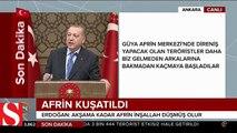 Cumhurbaşkanı Erdoğan: Kuzey Irak sınırımıza kadar teröristlerden temizleyeceğiz