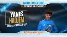 Yanis Hadjem remporte le trophée Boulanger du meilleur jeune du mois