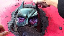 Playing With Black Sand/Making Batman And Sea Animals in Sand/Sand Castle/Kids Fun Creative Play