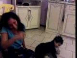 Ma grande soeur  et mon petit frere en plein delir lol