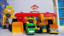 뽀로로 라바 와 함께 하는 CAT 중장비 자동차 장난감 놀이 Heavy duty cars 콩순이 뽀로로 폴리 타요 봉봉 캐리 와 장난감 친구들