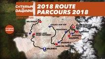 Le parcours de la 70e édition - Critérium du Dauphiné 2018